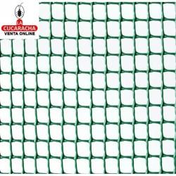 Malla Plastico Cuadranet Verde 11x11. Rollo 25 metros