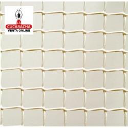 Malla Plastico Cuadranet Blanca 23x23mm. Rollo 25 metros