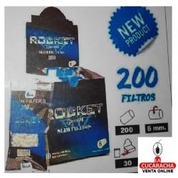 ROCKET-Bolsa de 200 Filtros 6mm.