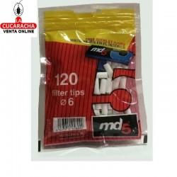 136 Bolsas de 120 Filtros 6mm. Con Papel 70mm. Md5.