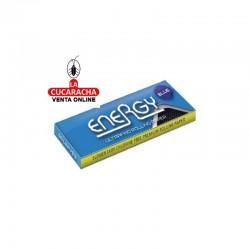 8 Estuches de 25. Papel Fumar Energy 70 mm Blue