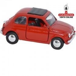 Miniatura Fiat 500, Modelo 1965, Color blacon, Escala 1:32