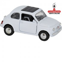 Miniatura Fiat 500, Modelo 1965, Color blanco, Escala 1:32