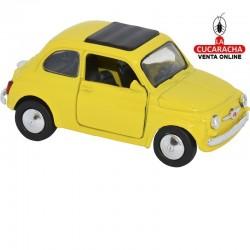 Miniatura Fiat 500, Modelo 1965, Color Amarillo, Escala 1:32