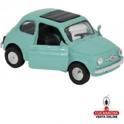 Miniatura Fiat 500, Modelo 1965, Color Verde, Escala 1:32