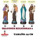 Imagenes Religiosas-2- en barro 25 cm
