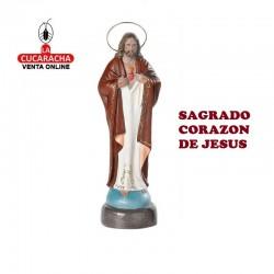 Sagrado Corazon de Jesus en barro 25 cm