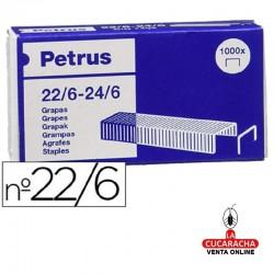 Grapas Petrus Nº- 22-6 - Galvanizadas Caja de 1000 grapas.- Unidadx100