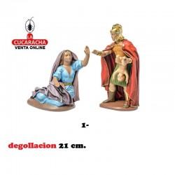 Figuras Belen Estilo Hebreo con tela MUERTE A NIÑOS 21 cm.