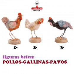 Figuras Belen ANIMALES-POLLOS-GALLINAS-PAVOS