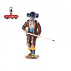 Figuras Belen Estilo Salzillo en barro-4-Viejo Guarda Ganado-18 CM