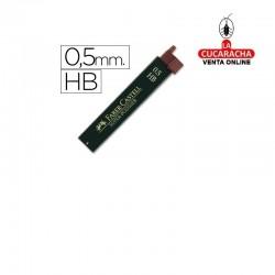Minas FABER Grafito 9065 0,5mm HB -Estuche 12 Minas.- Unidadx12