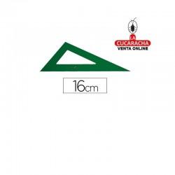 Cartabon FABER 16cm Plastico Verde.- Unidadx5
