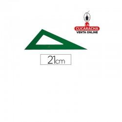 Cartabon FABER 21cm Plastico Verde.- Unidadx5