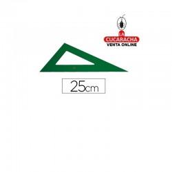 Cartabon FABER 25cm Plastico Verde.- Unidadx5