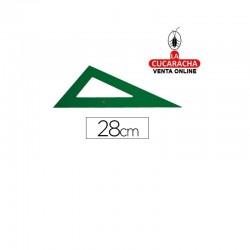 Cartabon FABER 28cm Plastico Verde.- Unidadx5