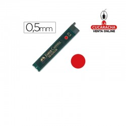 Minas FABER Roja 9085 0,5mm Estuche 12.- Unidadx12
