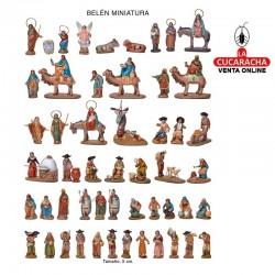 Figuras Belen Estilo Salzillo en barro BELEN COMPLETO MINIATURA 5 cm.