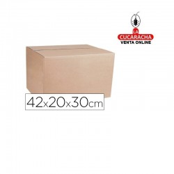 Caja Embalar Marron Q-CONNECT Doble Canal 420x200x300 Mm.
