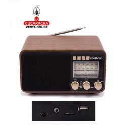 Radio analógica madera modelo retro
