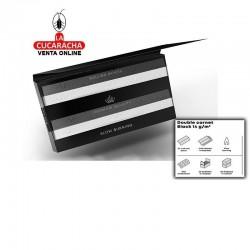 Papel Liar Caja 25 SLOOW Black 70MM Double Booklets 14gr-100Hojas.
