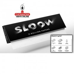 Papel Liar Caja 25 SLOOW Black 1 1/4 Booklets 14gr-50Hojas