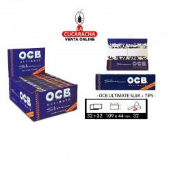 Estuches OCB Ultimate Slim+Tips 32 UDS