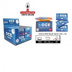 PAPEL FUMAR 70MM BLOC 300H X-PERT BLUE OCB