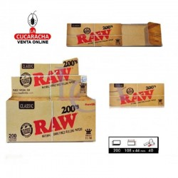 Estuche RAW Bloc 200 King Size Slim Classic 40 UDS