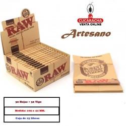 Estuche RAW King Size Slim +Tips Artesano 15 UDS