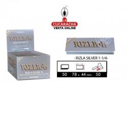 Papel Fumar Rizla 1,1/4 Ultrafino Plata