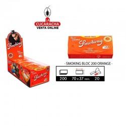 Estuche Smoking Bloc 200 Regular Orange