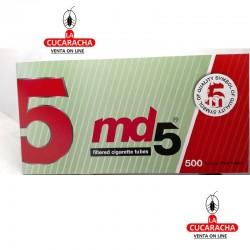 Caja de 500 Tubos MD5 Filtro Largo..