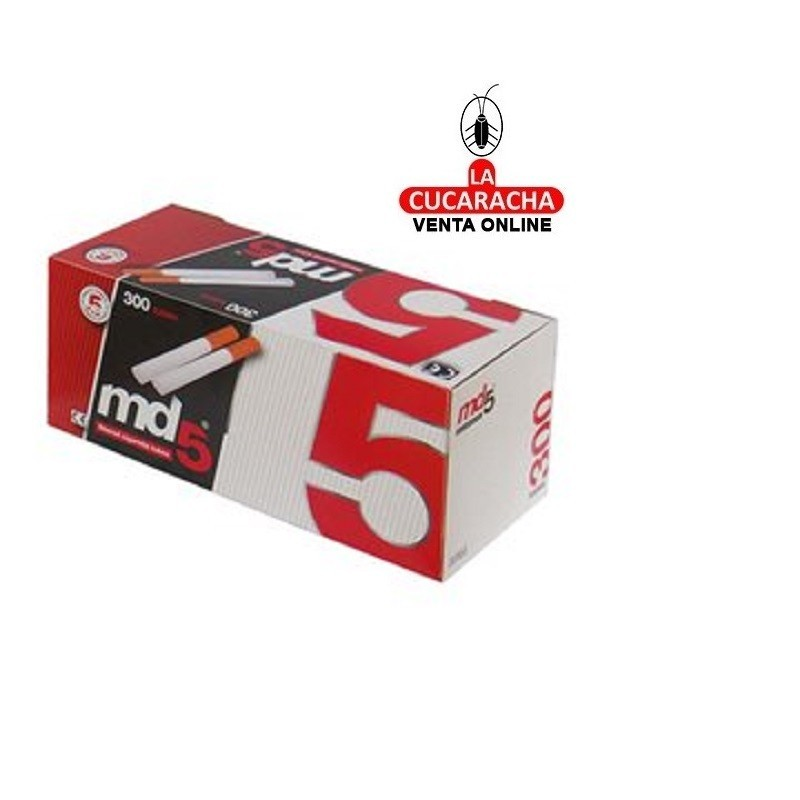 Tubos Cigarrillo MD5 Caja 300.- Unidadx40