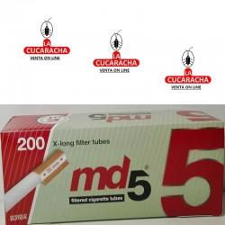 Caja de 200 Tubos Filtro Largo MD5..