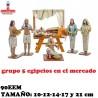 Figuras Belen Grupo 5 Egipcios en el mercado 14cm