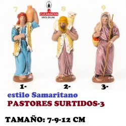 Figuras Belen Estilo Samaritano-PASTORES SURTIDOS-
