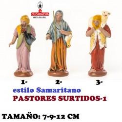 Figuras Belen Estilo Samaritano-PASTORES SURTIDOS 12 cm.