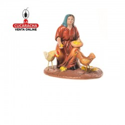 Figuras Belen Estilo Samaritano-MUJER CON POLLOS- 7-9-12 cm.