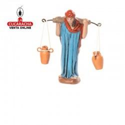 Figuras Belen Estilo Samaritano-SAMARITANA CON ANFORAS- 7-9 cm.