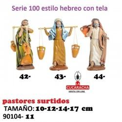 Pastores Surtidos Figuras estilo Hebreo con tela 10-12-14-17- cm
