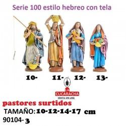Pastores Surtidos Figuras estilo Hebreo con tela 10-12-14-17 cm