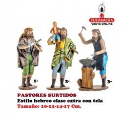 Figuras Belen Estilo Hebreo clase extra con tela-PASTORES SURTIDOS 10-12-14-17cm..