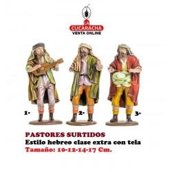 Figuras Belen Estilo Hebreo clase extra con tela-PASTORES SURTIDOS-10-12-14-17cm