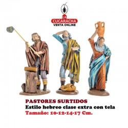 Figuras Belen Estilo Hebreo clase extra con tela PASTORES SURTIDOS 10-12-14-17cm.