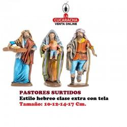 Figuras Belen Estilo Hebreo clase extra con tela PASTORES SURTIDOS 10-12-14-17cm..