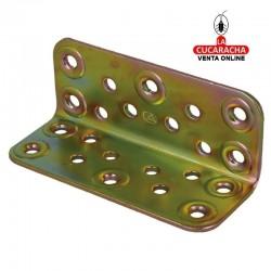 Placa Angulo Acero 100mm. Modelo 304 Bicromatada AMIG. 3 Medidas.