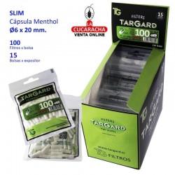 FILTRO LONG 6MM B100 CON CAPSULA MENTOL TARGARD