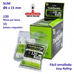 Bolsa de 120 filtros Sin Envoltura de papel 6mm. TarGard.