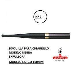 BOQUILLAS DENICOTEA EXPULSORA modelo largo 100mm negra
